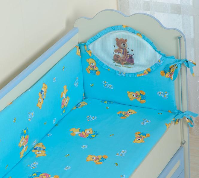 Бампер на кроватку для новорожденных своими руками 44
